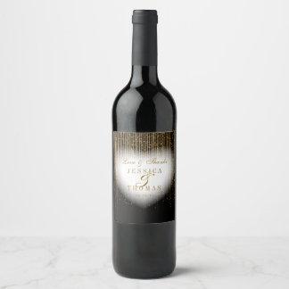 Étiquette Pour Bouteilles De Vin Petite averse d'or d'amour et de mercis