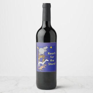 Étiquette Pour Bouteilles De Vin Portée pour l'étiquette de vin d'étoiles