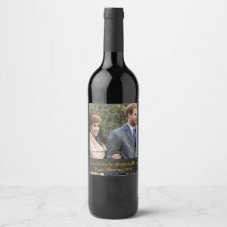 Étiquette Pour Bouteilles De Vin Prince Harry et mariage royal 2018 de Meghan