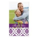Étiquette pourpre de faveur de Merci de mariage de Modèles De Cartes De Visite
