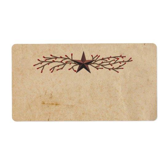 Étiquette primitif de produit d'étoile