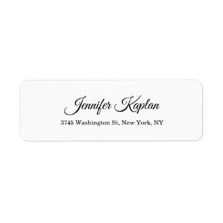 Étiquette Professionnel minimaliste blanc classique créatif