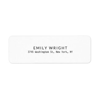 Étiquette Professionnel minimaliste noir et blanc moderne