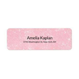 Étiquette Professionnel minimaliste simple moderne rose