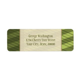 Étiquette Rayures directionnelles multi de vert olive