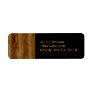 Étiquette Regard noué de fibre de bois de chêne