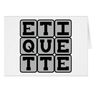 Etiquette, Regels van Sociaal gedrag Briefkaarten 0