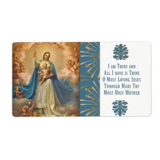 Étiquette Reine de Mary des anges de Jésus de ciel