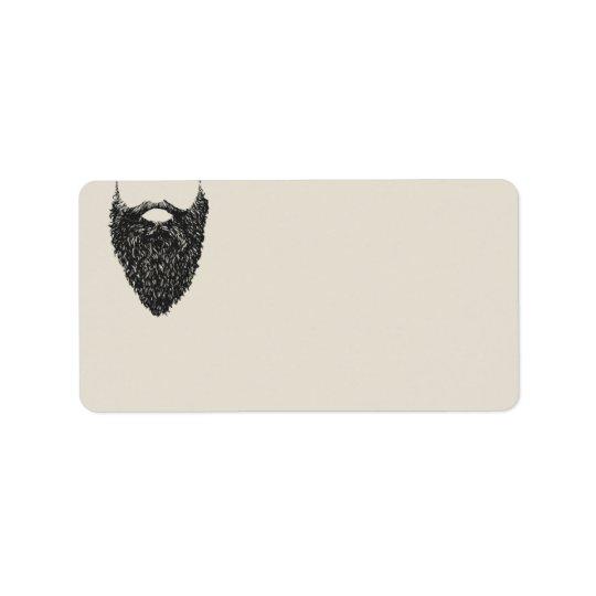 Étiquette Respectez l'adresse de retour en blanc de la barbe