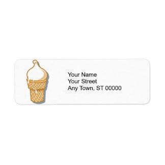 Étiquette rétro cornet de crème glacée