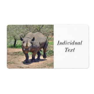 Étiquette rhinocéros