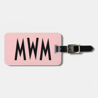 Étiquette rose et noire personnalisée de bagage étiquettes bagages