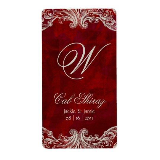Étiquette Roses d'antiquité d'étiquette de vin