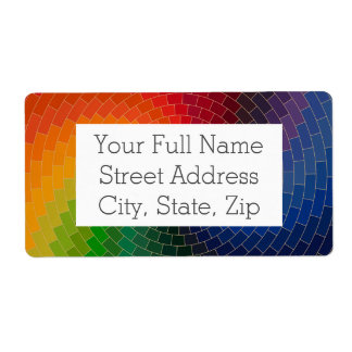 Étiquette Roue de couleur de spectre