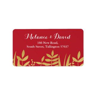Étiquette Rouge de Noël d'étiquettes de adresse et Noël de