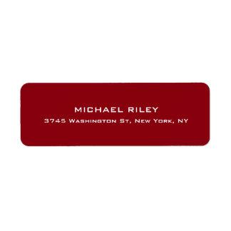 Étiquette Rouge-foncé unique mignon élégant moderne coloré