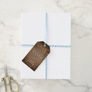 Étiquette rustique de cadeau
