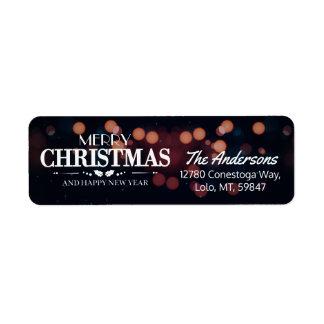 Étiquette Salutations de vacances de Joyeux Noël et de bonne