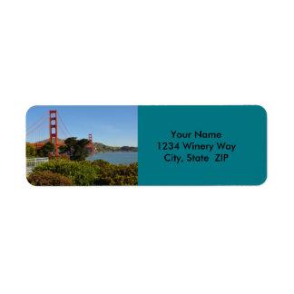 Étiquette San Francisco golden gate bridge en Californie