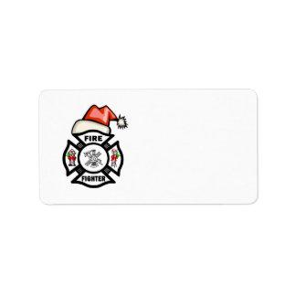 Étiquette Sapeur-pompier de Père Noël