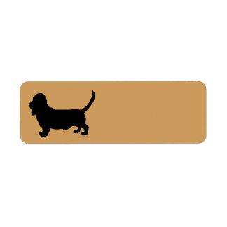 Étiquette Silhouette de chien de Basset Hound