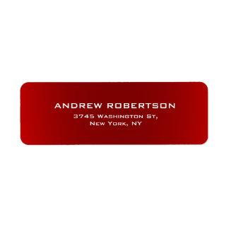 Étiquette Simple minimaliste élégant simple rouge foncé