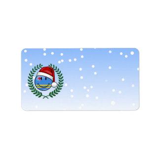 Étiquette Style gai de Noël de drapeau d'Aruba