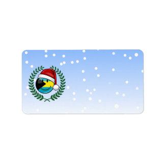 Étiquette Style gai de Noël de drapeau des Bahamas