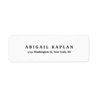 Étiquette Style minimaliste blanc noir moderne élégant