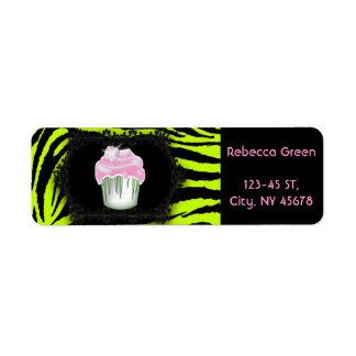 Étiquette Sweet sixteen de petit gâteau de rose d'impression