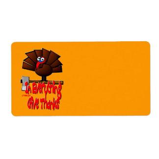 Étiquette Thanksgiving Turquie - dans TOUT donnez les mercis