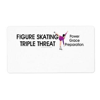 Étiquette Triple SUPÉRIEUR de patinage artistique