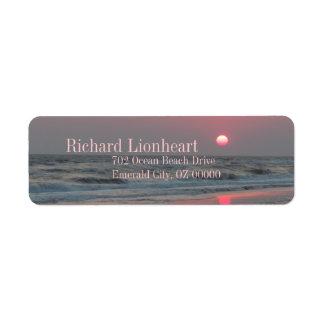 Étiquette Un coucher du soleil parfait - île de chêne, OR