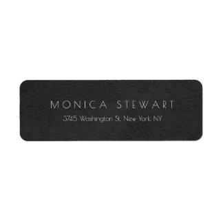 Étiquette Unique personnel moderne professionnel gris