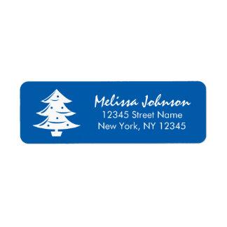 Étiquette Vacances d'hiver faites sur commande bleues