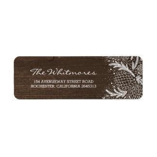 Étiquette Vacances en bois rustiques de pins de Milou