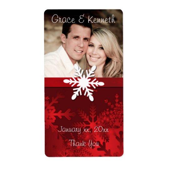 Étiquette Vacances, mariage d'hiver, photo faite sur