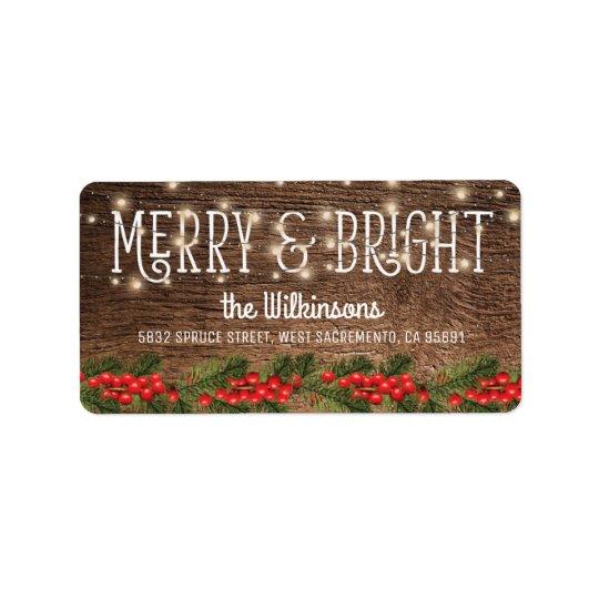 Étiquette Vacances rustiques de Noël de pays