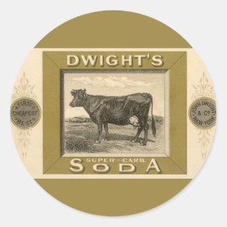 Étiquette vintage de produit, la soude