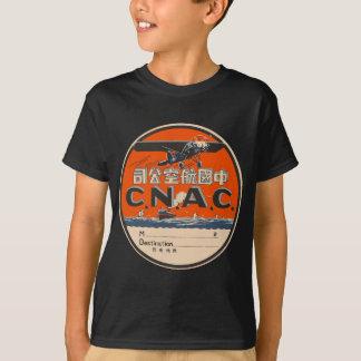 Étiquette vintage de transports aériens t-shirt