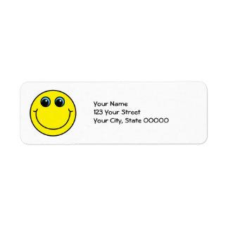 Étiquette Visage souriant jaune