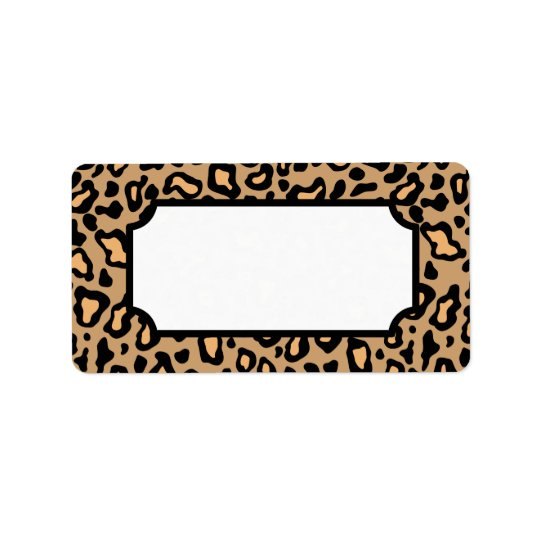 Étiquettes animaux d'empreinte de léopard