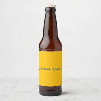 Étiquettes Bierfles uni Geel