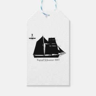 Étiquettes-cadeau 1883 schooner de hunier - fernandes élégants