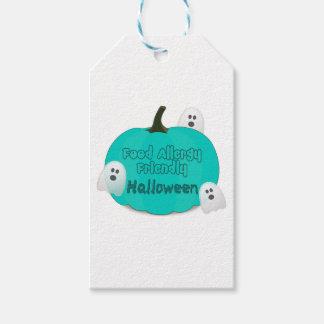 Étiquettes-cadeau Allergie alimentaire turquoise Halloween amical de