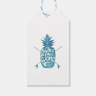 Étiquettes-cadeau Aloha planches de surf d'ananas