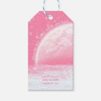 Étiquettes-cadeau Amour customisé vous à la fille rose de lune et de