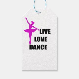 Étiquettes-cadeau amour de danse vivant