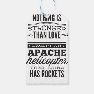 Étiquettes-cadeau Apache