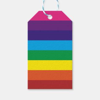 Étiquettes-cadeau Approvisionnements colorés de partie de motif de